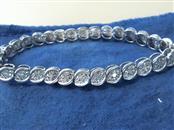 Silver-Diamond Bracelet 26 Diamonds .26 Carat T.W. 925 Silver 7.7dwt